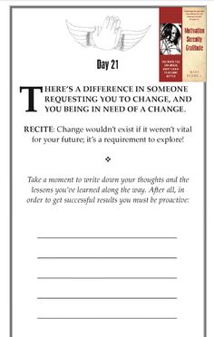 Change will happen whether you participate or not! Here's a free book excerpt from my first book Motivation Serenity Gratitude! For your copy visit Amazon, Barnes and Noble or www.motivationalmary.com. It transformed my life and I hope it does the same for you. #Books #Read #Change
