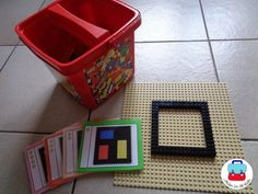 Kunst (Mondrian) - Jolien im Klassenzimmer - thema kunst - Mondrian, Art Themes, Lego, Lunch Box, Diy, Frame, Projects, Museum, Teaching