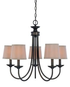 Kissinger 5-Light Shaded Chandelier  by Andover Mills at Wayfair