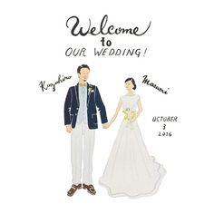 Welcome to Our Wedding ハワイ挙式のお客様より…。Sサイズでしたらそんなに荷物にもならず、スーツケースにすっと忍ばせてお持ちいただけます☺︎ #cuicui_illustboard #cuicui_wedding #welcomeboard #welcomespace #illustration#illustrator #bridal #wedding #プレ花嫁#花嫁#ウェルカムボード #ウェルカムスペース #イラスト #イラストレーション#新郎新婦#結婚式#結婚準備 #結婚式場 #instagood #instawedding #Hawaii #Hawaii挙式 #ハネムーン #ハワイ挙式 Wedding Invitation Cards, Wedding Cards, Diy Wedding, Wedding Portraits, Wedding Photos, Wedding Planer, Wedding Illustration, Wedding Guest Book Alternatives, Personalized Wedding