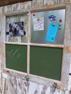 Versatile Old Window-Chalkboard, Magnets, and Pictures by SharonCottageCompany on Etsy