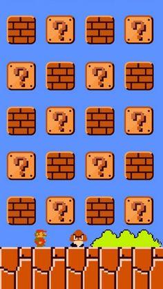 iPhone 5 wallpaper old school Mario bros