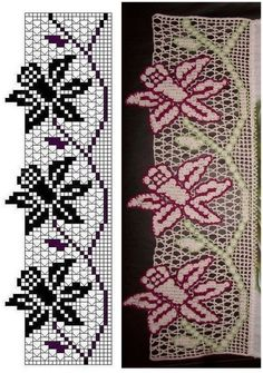 patterns + crochet + border + with + flowers.jpg — 988 piksel Fauna and Flora are two terms frequently … Crochet Lace Edging, Crochet Borders, Thread Crochet, Crochet Doilies, Crochet Stitches, Crochet Home, Easy Crochet, Free Crochet, Knit Crochet