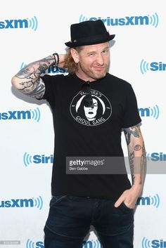 Musician Corey Taylor visits at SiriusXM Studios on August 10, 2017 in New York City.