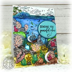 Handmade card by Julee Tilman using stamps and dies from the July 2020 My Monthly Hero Collection. #heroarts #mymonthlyhero #cardmaking #handmadecards #stamping #papercrafting Hero Arts, I Card, Giveaway, About Me Blog, Card Making, Paper Crafts, Stamping, Handmade, Collection