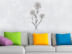 Formano   WAND DEKO Blume I   Blumenzweige Aus Metall Höhe 74cm   Wanddeko  Wohnzimmer