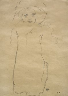 W&K - Wienerroither & Kohlbacher. Egon Schiele (Tulln 1890 - 1918 Vienna), Girl with hat, Pencil on paper, 45.2 x 31.6 cm, Signed and dated (lower right): Egon Schiele 1911.