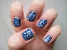 nail art: plastic wrap marble nails « glitter, she wrote