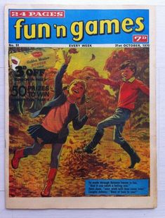 Childrens FUN n GAMES COMIC 24 Pages No51  31st October 1970 N Game, Autumn Leaves, October, Comics, My Love, Books, Ebay, Fall Leaves, Libros