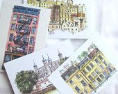 Postcards Pack of Four From Original Watercolours - LOVE this artist!