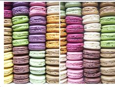 Macarons in spring colours