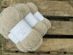 Natural Alpaca yarn in the colour Champagne from Purl Alpaca Designs