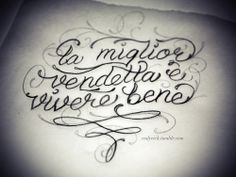 tattoo translation from Italian: the best revenge is living well.