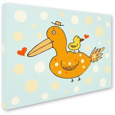 Trademark Fine Art Bird and Baby Canvas Art by Carla Martell, Size: 24 x 32, Multicolor
