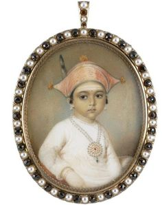 Buy online, view images and see past prices for Edward Nash , Portrait of Mooda Maji of Coorg. Invaluable is the world's largest marketplace for art, antiques, and collectibles. Miniature Portraits, Miniature Paintings, Royal Indian, India Art, Historical Art, Daughter Of God, Cultured Pearls, Portrait Art, Original Art