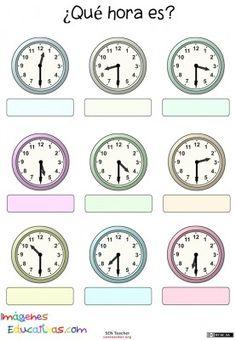 178 best 2 matemticas images on pinterest calculus good ideas trabaja las horas y los relojes 10 fandeluxe Choice Image