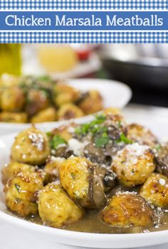 ~Chicken Marsala Meatballs~versatile-you can make mini versions for hors d'oeuvres, add them to pasta or even a sandwich. They can also be frozen and reheated. Click through for Giada De Laurentiis' recipe Giada Recipes, Cooking Recipes, Healthy Recipes, Giada In Italy Recipes, Easy Recipes, Potato Recipes, Cooking Tips, Giada De Laurentiis, Chicken Meatballs