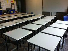 The desks in Ratoath Senior School are waiting patiently to scribbled on!