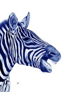 bic pen ink drawing...zebra