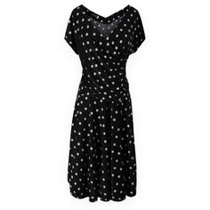 Gamiss Women's V Neck Plus Size Short Sleeve Wrinkled Polka Dot Print Dress,Black,Regular Sizing 14 Gamiss,http://www.amazon.com/dp/B00CJTB1BW/ref=cm_sw_r_pi_dp_dCLjsb1B6M7M7VE4