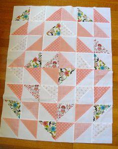 Peach HST quilt | Maman & Nursery Basics