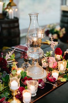 A Burgundy Lovefest That You'll Have to See to Believe ⋆ Ruffled Wedding Table Centres, Reception Table Decorations, Wedding Arrangements, Flower Decorations, Wedding Centerpieces, Wedding Decorations, Succulent Decorations, Table Arrangements, Fall Wedding