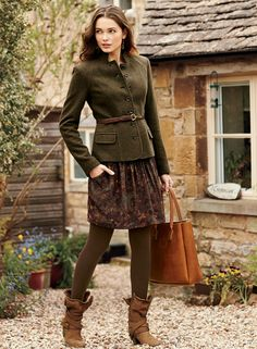 English Country Fashion, British Country Style, Mode Outfits, Winter Outfits, Fashion Outfits, Womens Fashion, Petite Fashion, Curvy Fashion, Mode Chanel