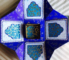 """""""Kerala"""" box, middle layer, with the little gift box opened"""