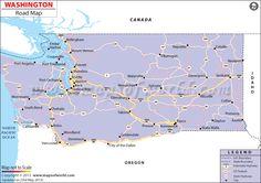 Check out this #Washington, USA #Road #Map