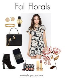 """""""Fall Florals"""" by shopluzzo on Polyvore featuring Steve Madden, J.Crew, Dolce&Gabbana, Yves Saint Laurent, Laura Geller, Cartier, Nixon and Cole Haan"""