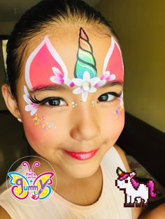 Face Painting Unicorn, Girl Face Painting, Face Painting Designs, Painting For Kids, Body Painting, Easy Face Painting, Easy Halloween Face Painting, Cool Halloween Makeup, Leopard Face Paint