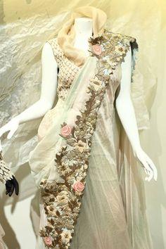 Anamika                                                                                                                                                      More Indian Bridal Fashion, Pakistani Bridal Wear, Pakistani Dresses, Indian Sarees, Indian Dresses, Indian Outfits, Sari Design, Indian Attire, Indian Wear