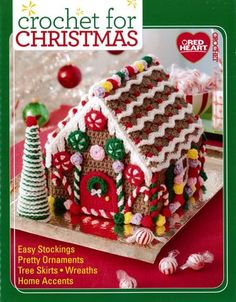 A nice collection of Christmas stockings, pretty ornaments, a tree skirt, a wreath and other home accents. This book contains fifteen unique patterns. Softcover, 48 pages.