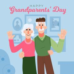 National Grandparents Day, Happy Day, Vector Free, How To Draw Hands, Family Guy, Social Media, Stock Photos, Fictional Characters, Hand Reference