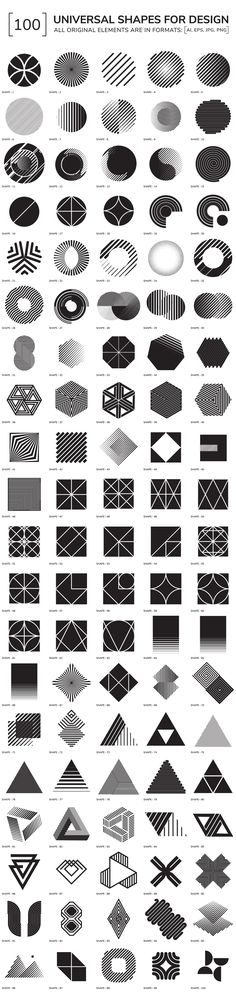 100 geometric shapes - Objects - 1