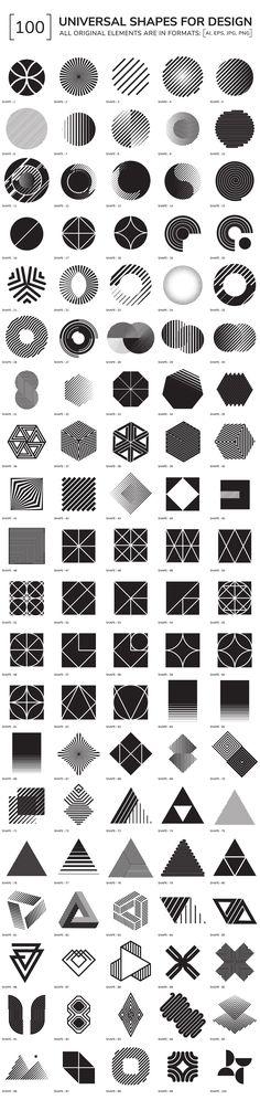 100 geometric shapes - Objects - 1