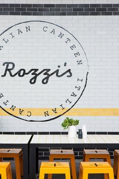 Rozzi's Italian Canteen in Melbourne by Mim Design | Yellowtrace.