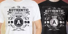 DESCRIPTION Another Authentic Vintage T-Shirt Templates made with vector shapes & photoshop shapes that the elements are great for u Photoshop Shapes, T Shirt Design Template, Vector Shapes, Denim And Supply, Shirt Designs, Branding, Classy, Templates, Elegant