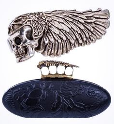 HAMC sue Alexander McQueen, after accusing him of misusing their trademark winged death head. A complaint was filed against McQueen on Mon 25th Oct 2010 by the HAMC stating he had breached trademark protection rules. HAMC cites a knuckle-duster ring & handbag, both carried the Winged Death Motif. http://latimesblogs.latimes.com/alltherage/2010/10/hells-angels-file-trademark-suit-against-alexander-mcqueen.html &/or http://vogue.co.uk/news/2010/10/27/hells-angels-sue-alexander-mcqueen