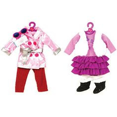 """My Life As Trench Coat and Schoolgirl Doll Outfits for 18"""" doll"""