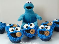 Mrs. Fox's Sweets: Cookie Monster Cupcakes