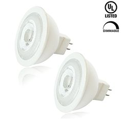Luxrite LR21306 2Pack 7W MR16 LED Bulb 12V 50W Halogen Replacement Dimmable Cool White 4100K 550 Lumens 40 Beam Spotlight GU53 Base UL Listed