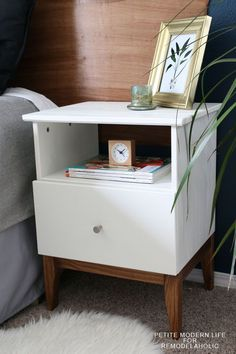 Gorgeous mid century Ikea Tarva hack by Petite Modern Life on Remodelaholc