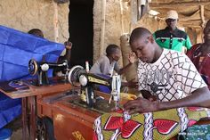 Sewing studio; reminds me of Ghana