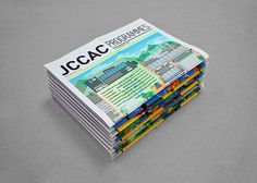 JCCAC Programme May and June Issues on Behance in Layout