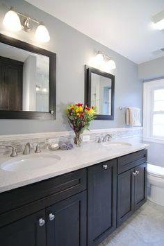 Bathroom Backsplash Design Pictures Remodel Decor And Ideas Page 78 Dark Cabinets