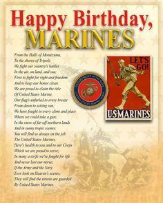 Happy Birthday to the United States Marine Corps ~ 241 Bad Ass years! Usmc Birthday, Marine Corps Birthday, Us Marine Corps, Happy Birthday, Birthday Wishes, Birthday Quotes, Marine Baby, Marine Love, Once A Marine
