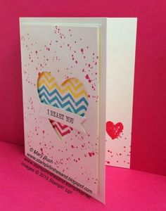 Stampin Up work of art stamp set and gorgeous grunge stamp set. window card using heart framelits for the sizzix big shot