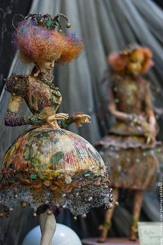 by Ira Deineko art cloth doll sculpture from found objects upcycled fabric and h. by Ira Deineko a Clay Dolls, Bjd Dolls, Doll Toys, Toy Art, Photographie Portrait Inspiration, Paperclay, Art Plastique, Ball Jointed Dolls, Doll Face