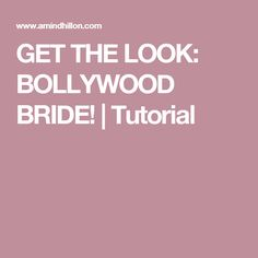 A little South Asian bridal inspiration. Chic, glamorous, and traditional--here's how to turn into a BOLLYWOOD BRIDE! Asian Bridal Makeup, Get The Look, Bollywood, Wedding Inspiration, Glamour, Bride, Tips, Wedding Bride, Bridal